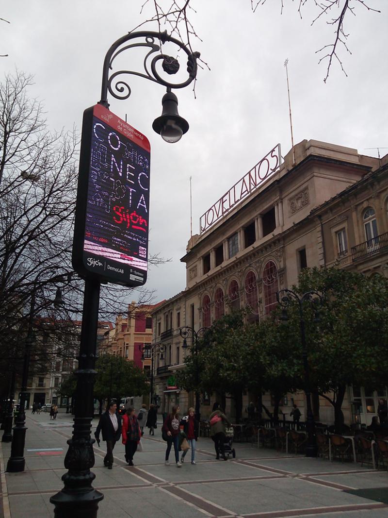 Conecta Gijón installation - Pablo Vázquez de Castro Ontañón
