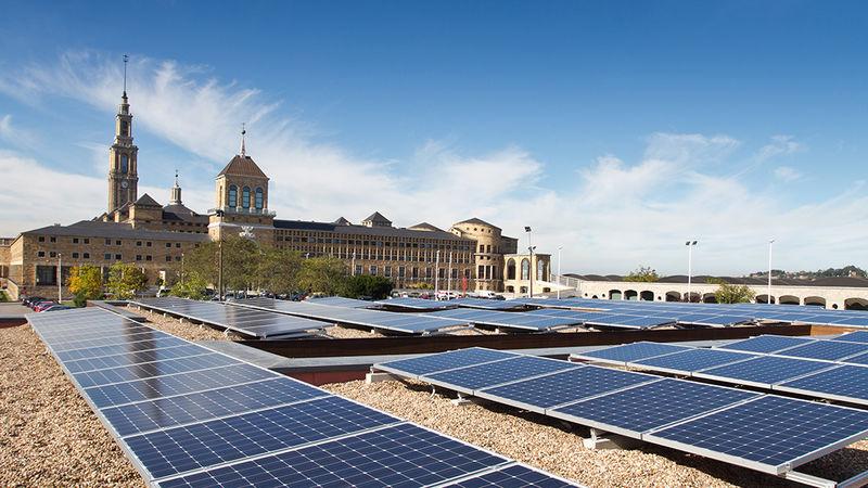 Gijón - Solar panels in Knowledge Mile