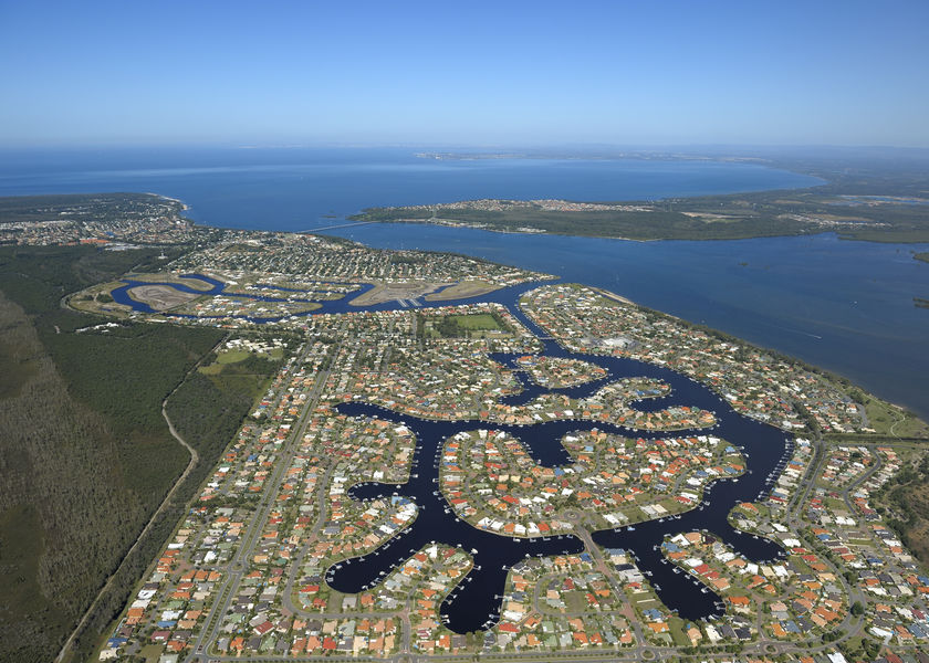 20090514 Aerial Division 1 Bribie Island Canals Overview