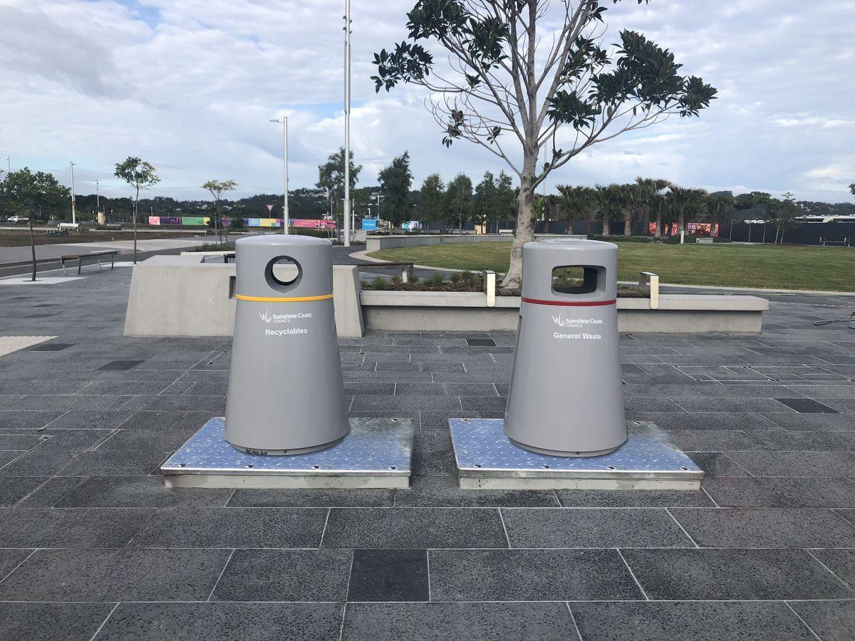 Sunshbine Coast automated waste collection system Public bins